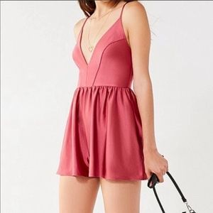 Urban Outfitters Gianni Plunging Romper